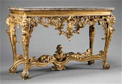 Italian Rococo Carved Giltwood Console Table