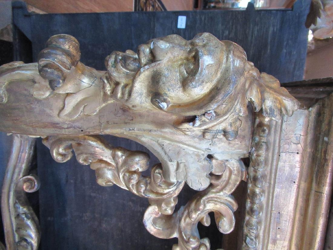 Italian Rococo Carved Giltwood Console Table - 5