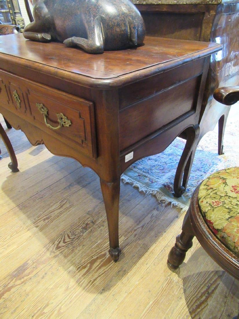 French Provincial Carved Walnut Console Table - 3