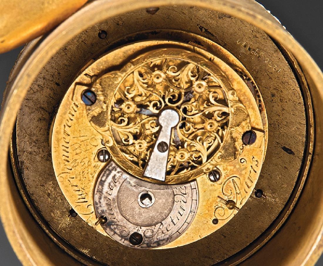 Empire Gilt Bronze Figural Clock - 3