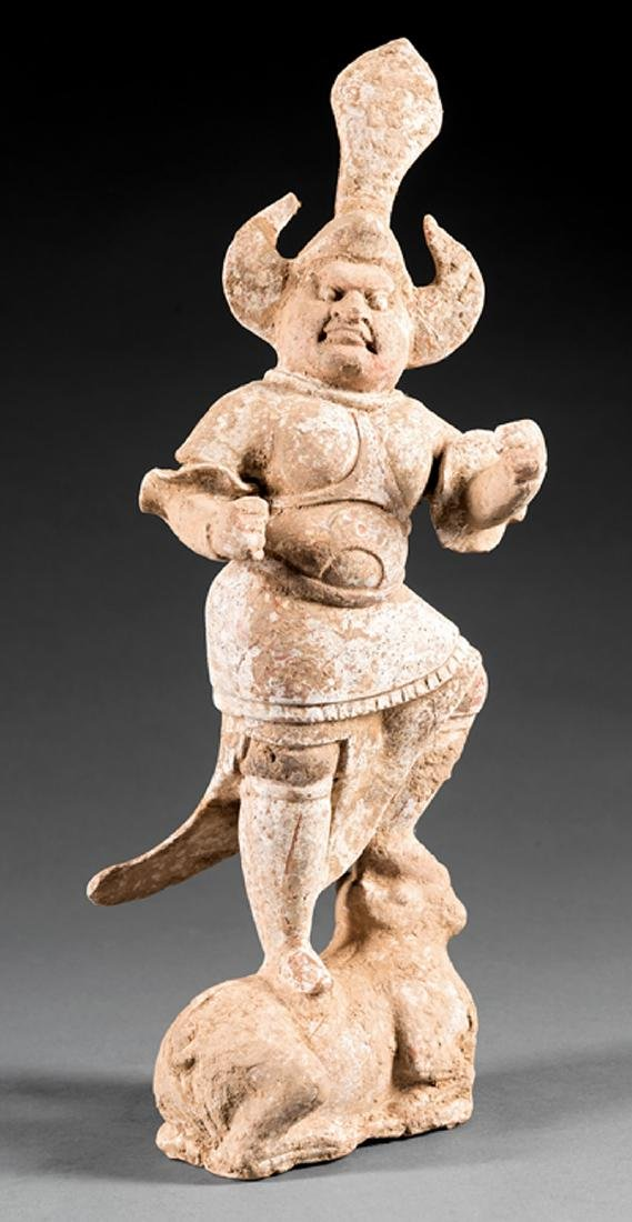 Chinese Pottery Figure of a Lokapala