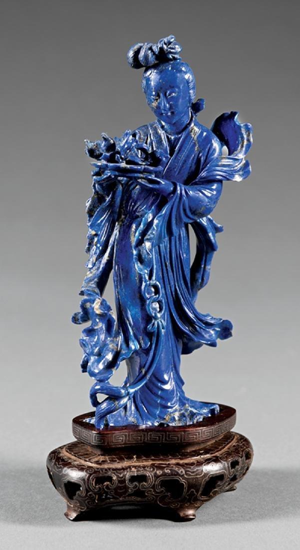 Chinese Lapiz Lazuli Figure of Beauty