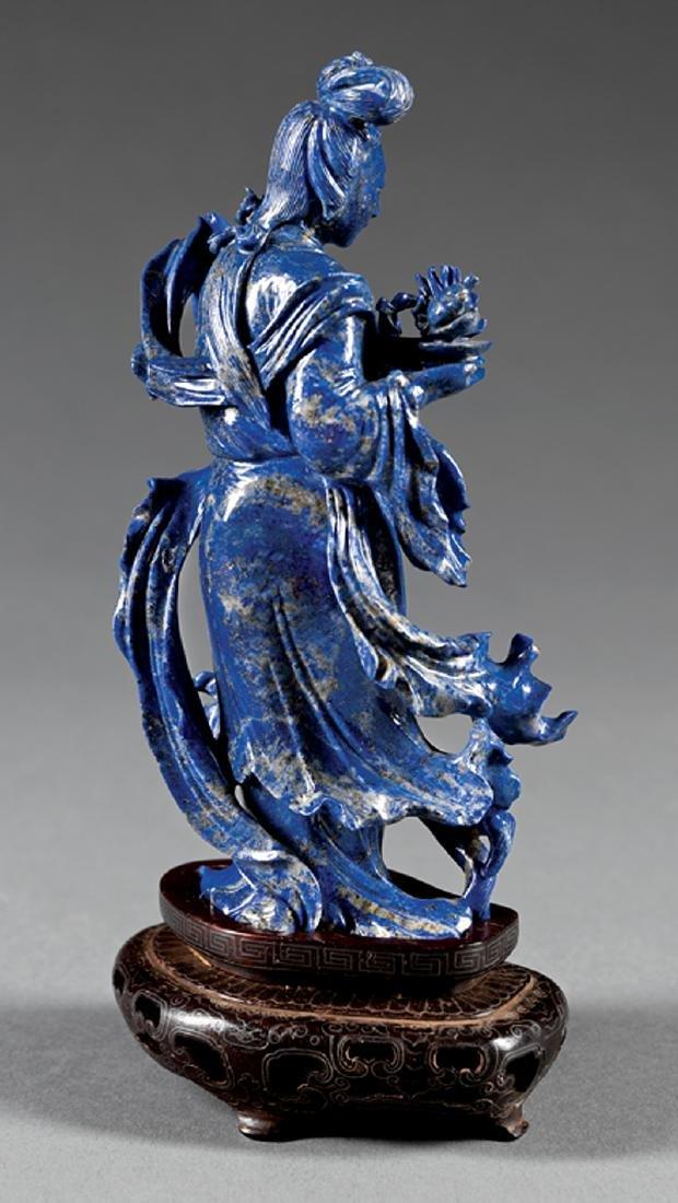 Chinese Lapiz Lazuli Figure of Beauty - 2