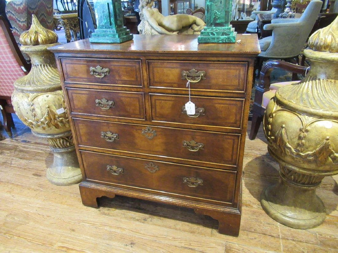 Inlaid and Burled Walnut Chests of Drawers - 2