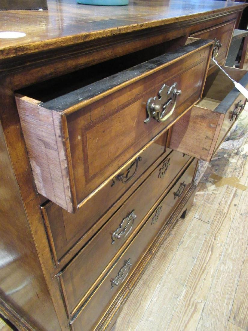 Inlaid and Burled Walnut Chests of Drawers - 4
