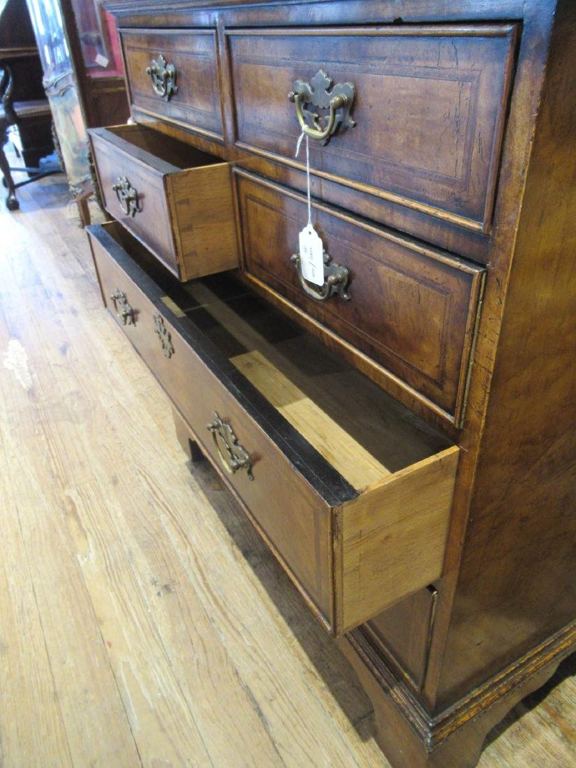 Inlaid and Burled Walnut Chests of Drawers - 6