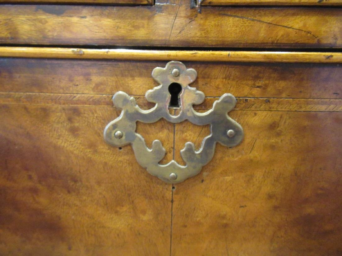 Inlaid and Burled Walnut Chests of Drawers - 7