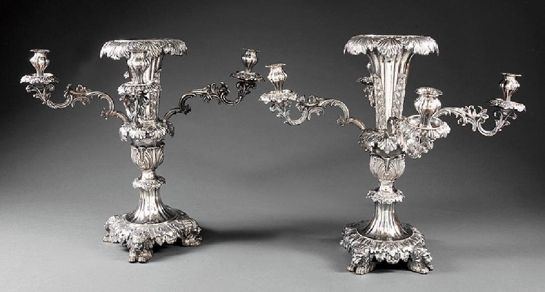 James Dixon & Sons Silverplate Epergne/Candelabra