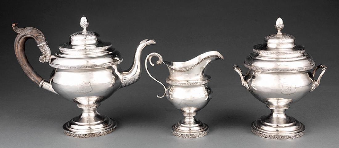 Thomas Whartenby Coin Silver Tea Service
