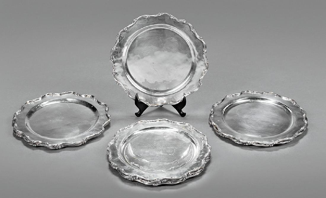 "Mexican Sterling Silver Plates, mark ""G.A.C."""