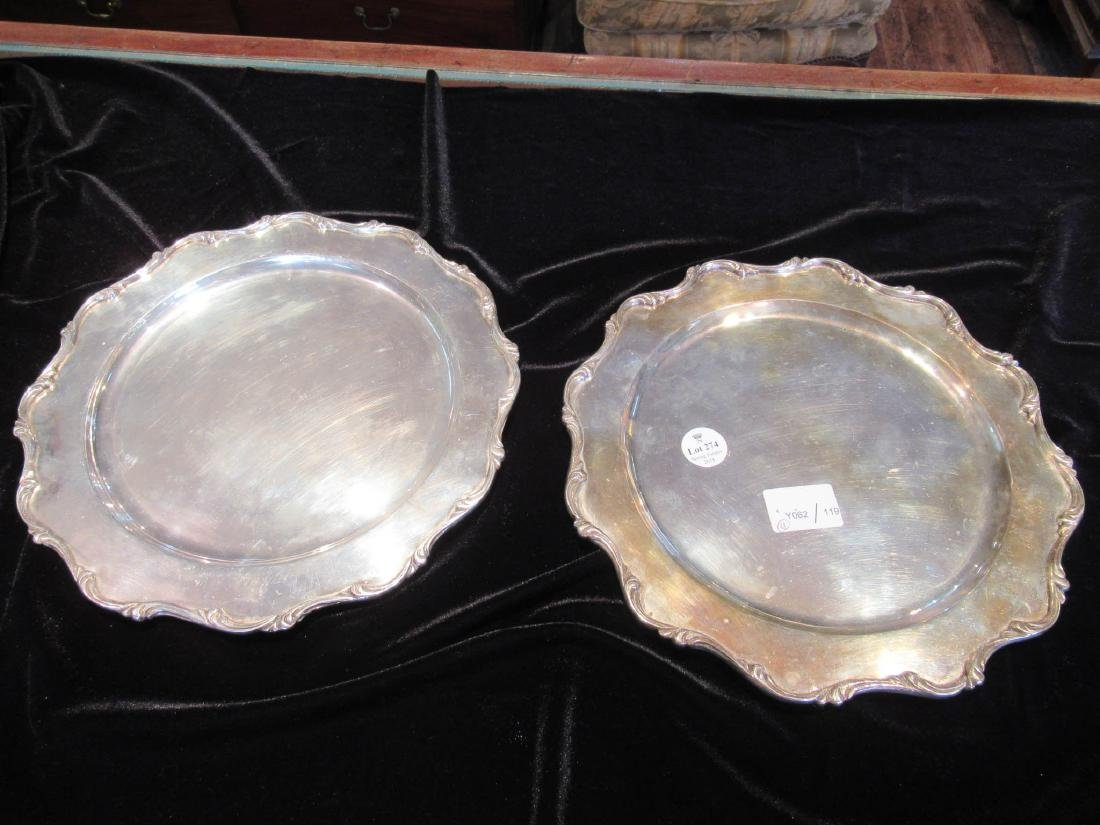 "Mexican Sterling Silver Plates, mark ""G.A.C."" - 3"