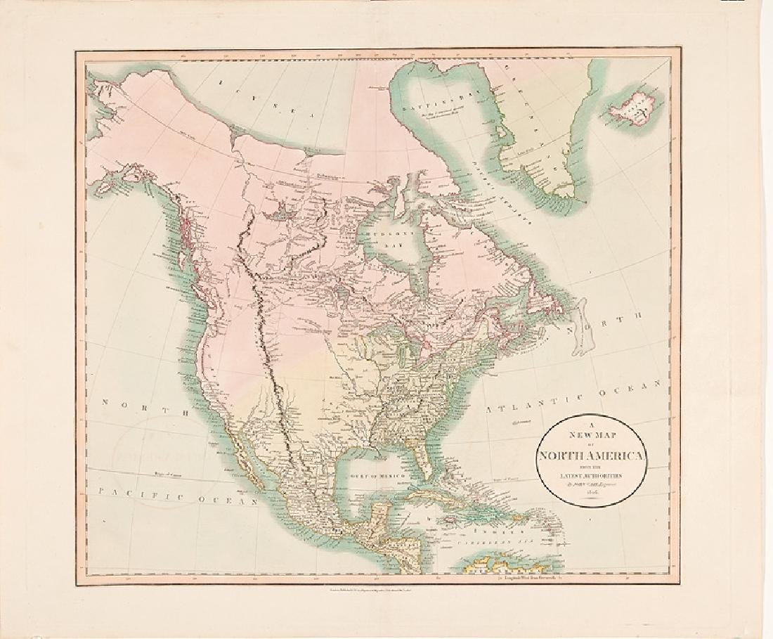 John Cary Map of North America 1806