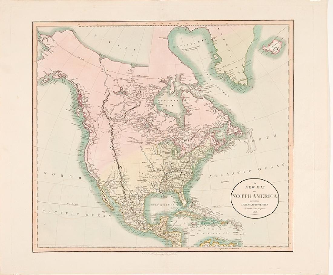 John Cary Map of North America 1806