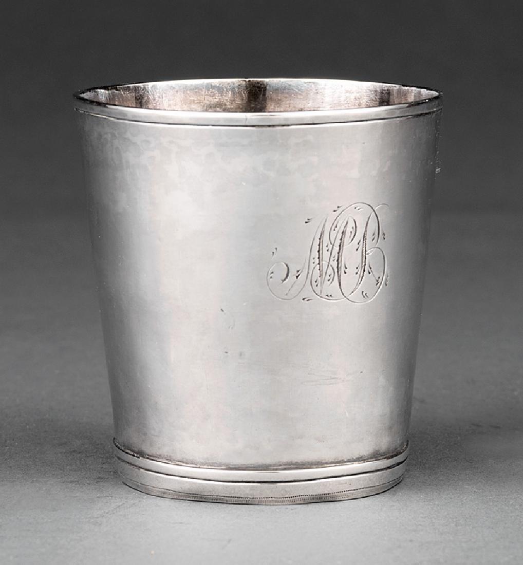 William Stoddard Nichols Coin Silver Beaker