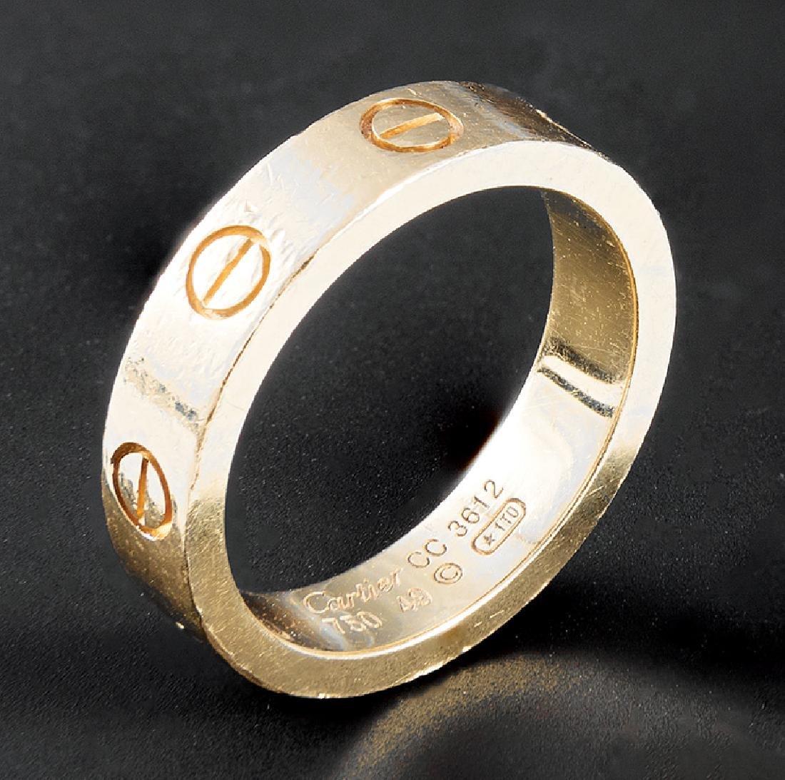 """Cartier 18 kt. Gold """"Love"""" Band"""