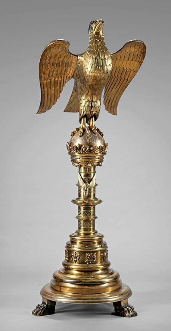 Monumental English Brass Figural Lectern