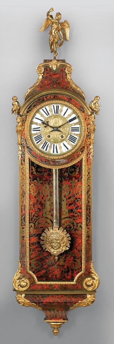 Napoleon III Bronze-Mounted Boullework Wall Clock