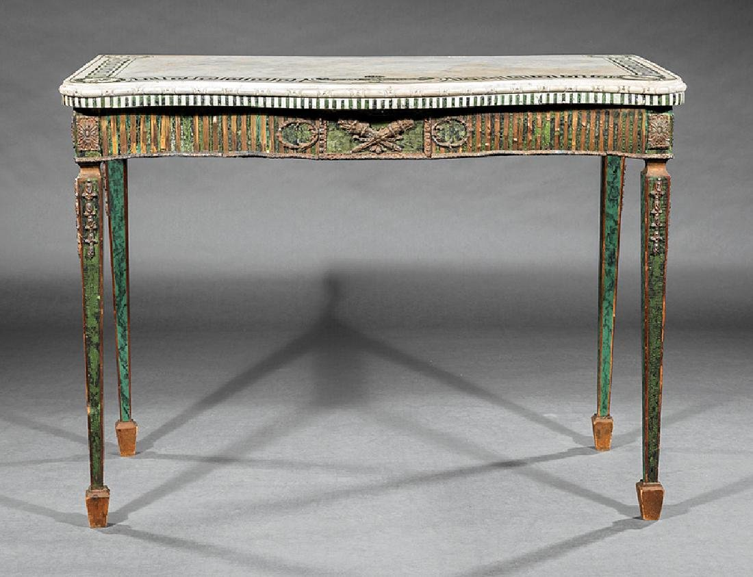 Neoclassical Bronze-Mounted Painted Console Table - 2