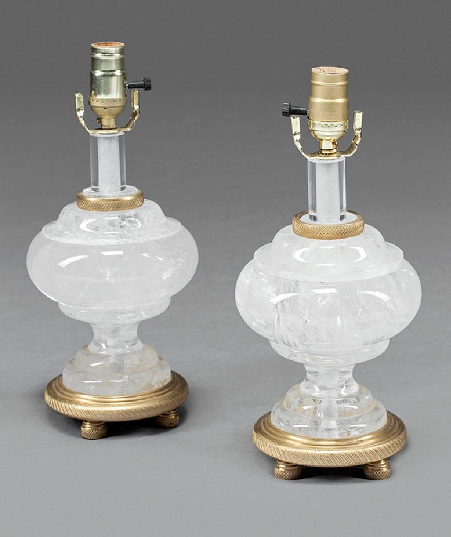 Bronze-Mounted Rock Crystal Lamps