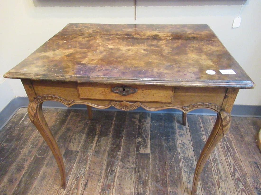 Antique French Provincial Carved Walnut Table - 2