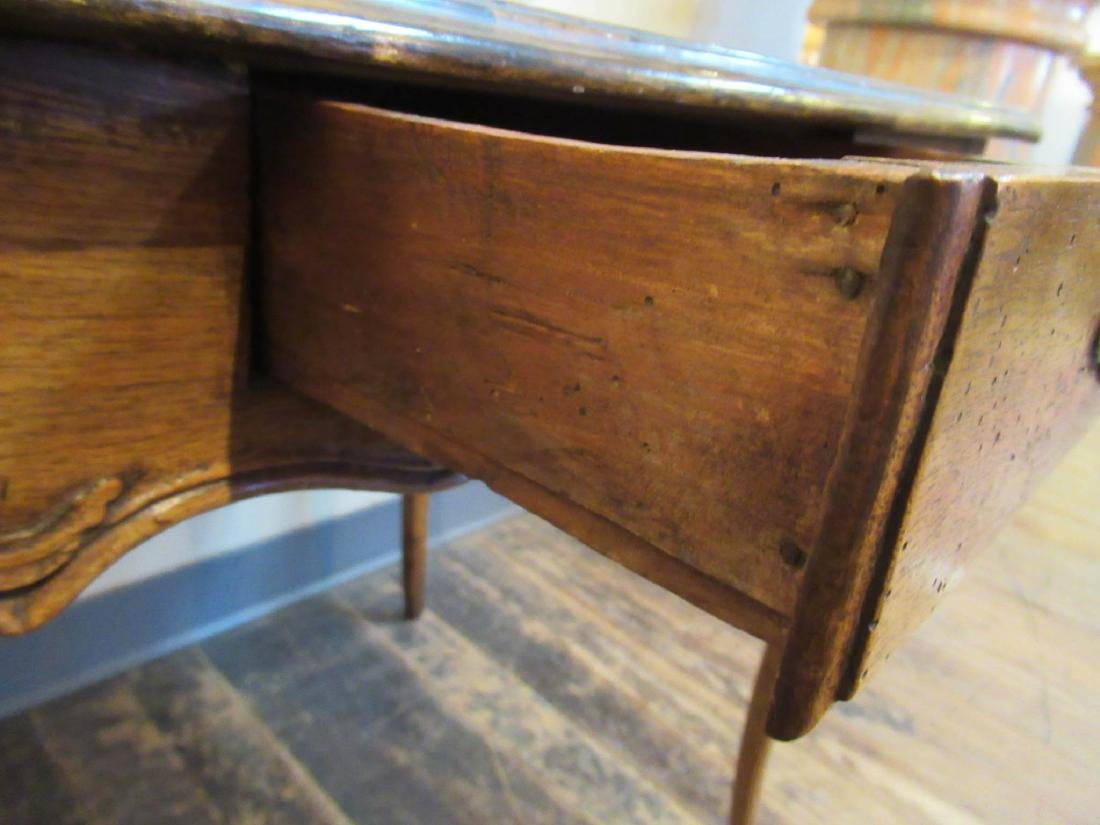 Antique French Provincial Carved Walnut Table - 5