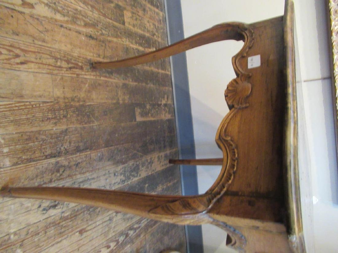 Antique French Provincial Carved Walnut Table - 6