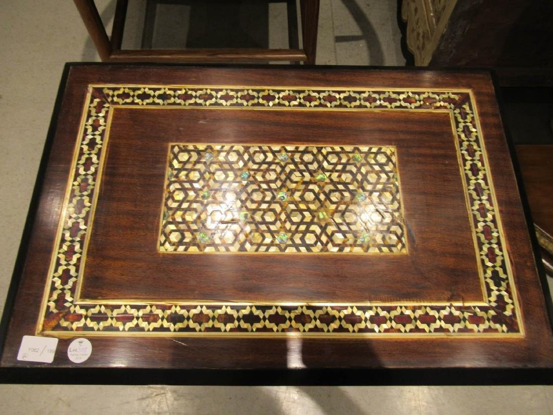 Pair of Moorish Ebonized and Inlaid Tables - 3