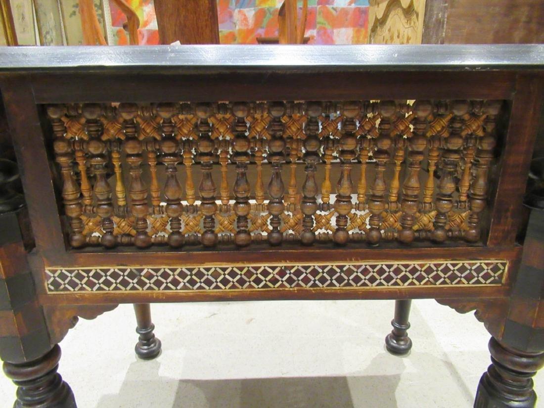 Pair of Moorish Ebonized and Inlaid Tables - 4