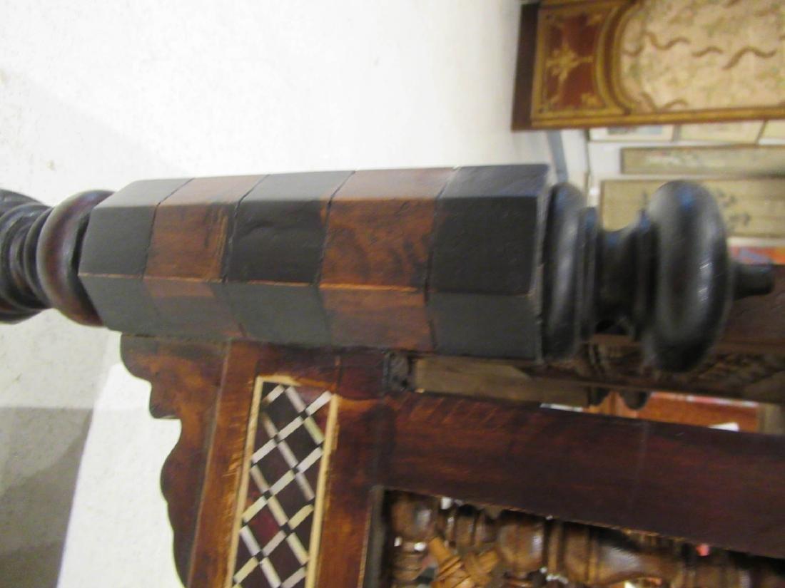 Pair of Moorish Ebonized and Inlaid Tables - 5