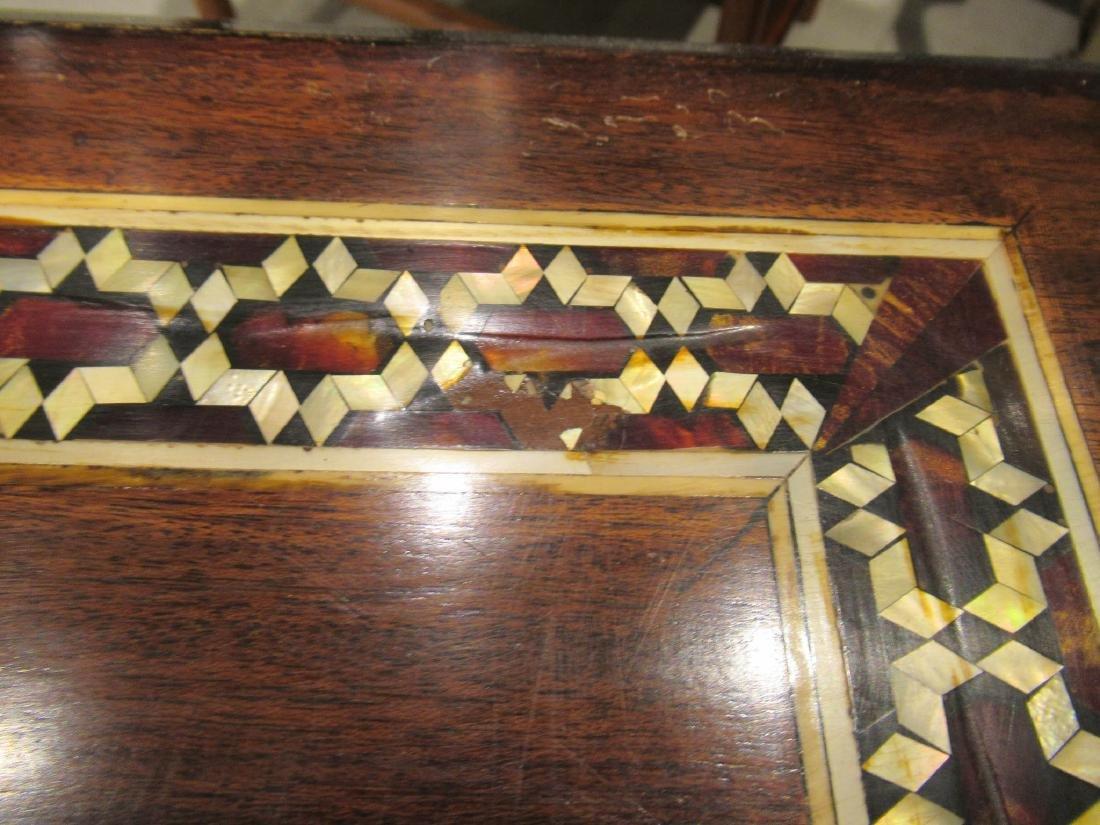 Pair of Moorish Ebonized and Inlaid Tables - 7