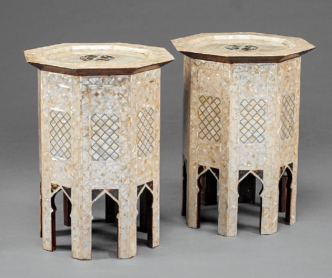Moorish Mother-of-Pearl Inlaid Occasional Tables