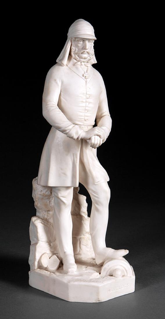 "Minton Parian Figure of ""Sir Henry Havelock"""