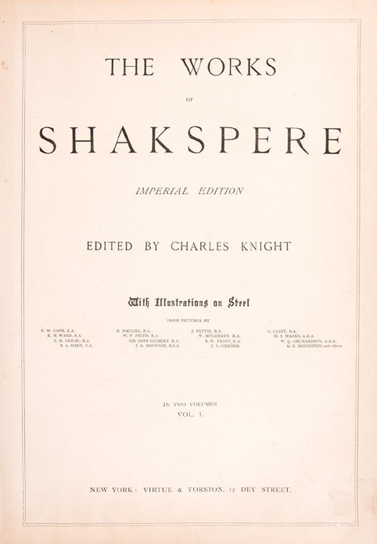 Works of Shakespeare, 1880 - 3