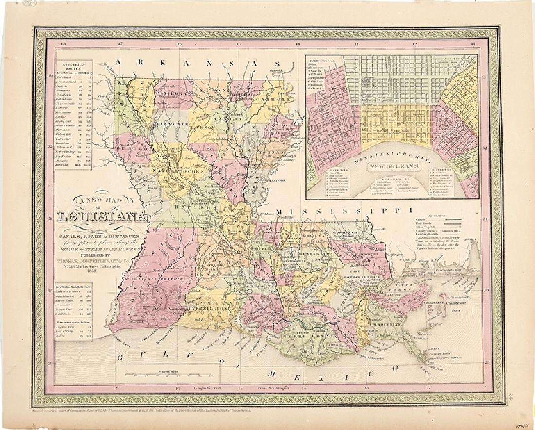 Group of Seven Antique Louisiana Maps - 3