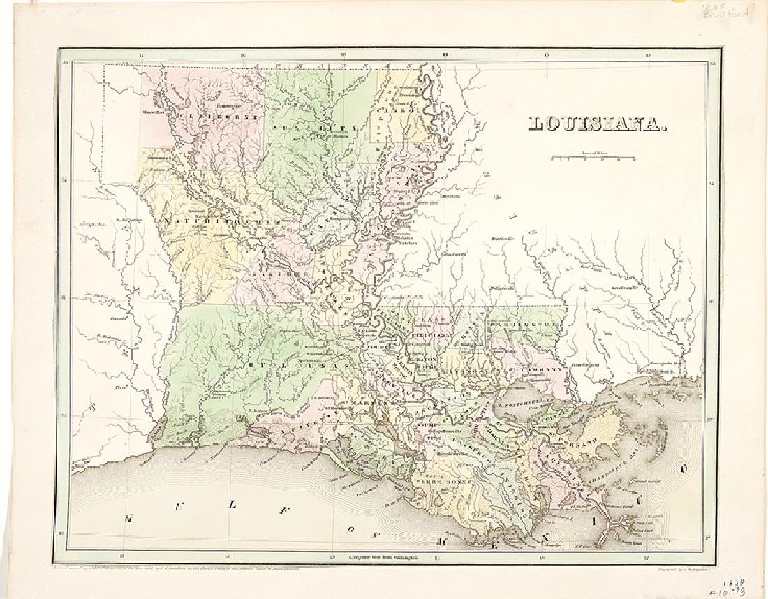 Group of Seven Antique Louisiana Maps - 5