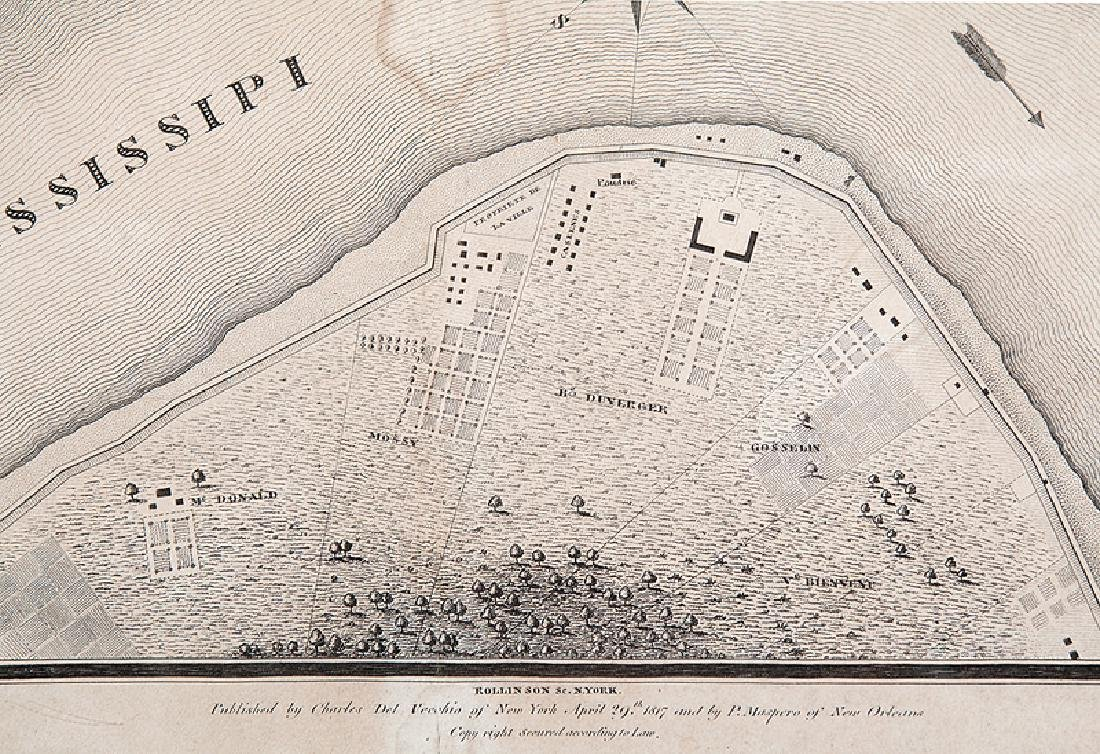Jacques Tanesse Map of New Orleans, 1817 - 4