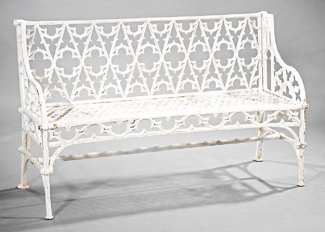 Gothic Cast Iron Garden Benches