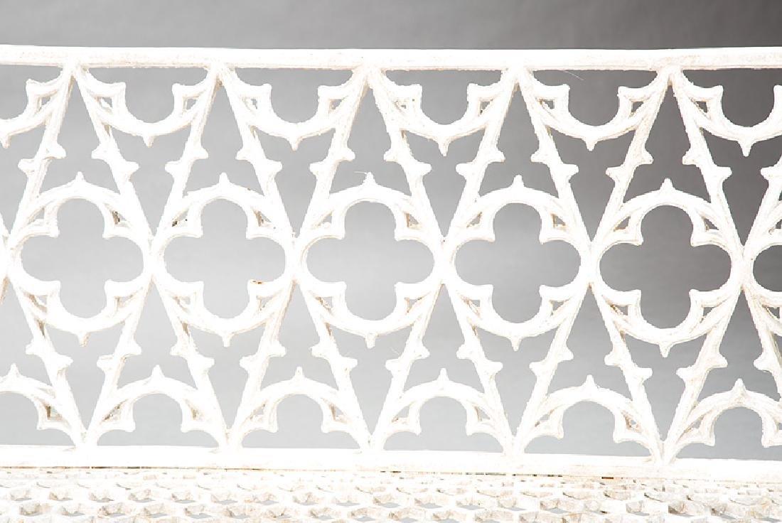 Gothic Cast Iron Garden Benches - 3