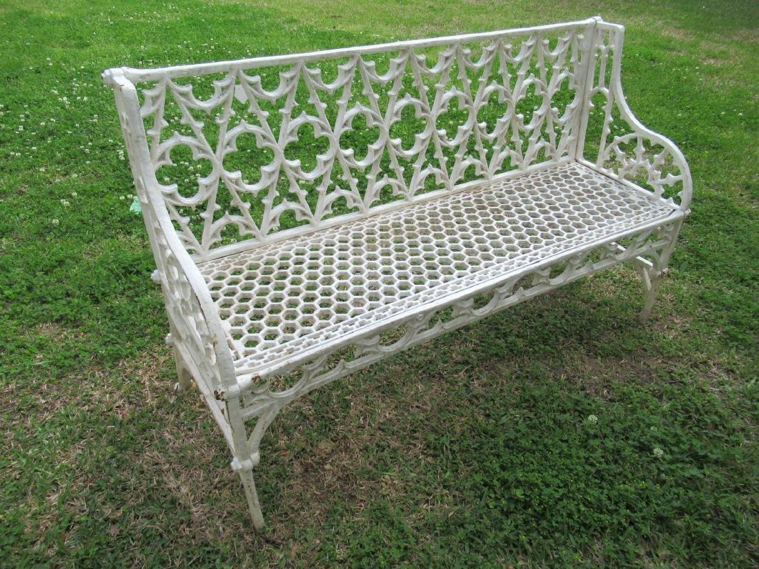 Gothic Cast Iron Garden Benches - 4