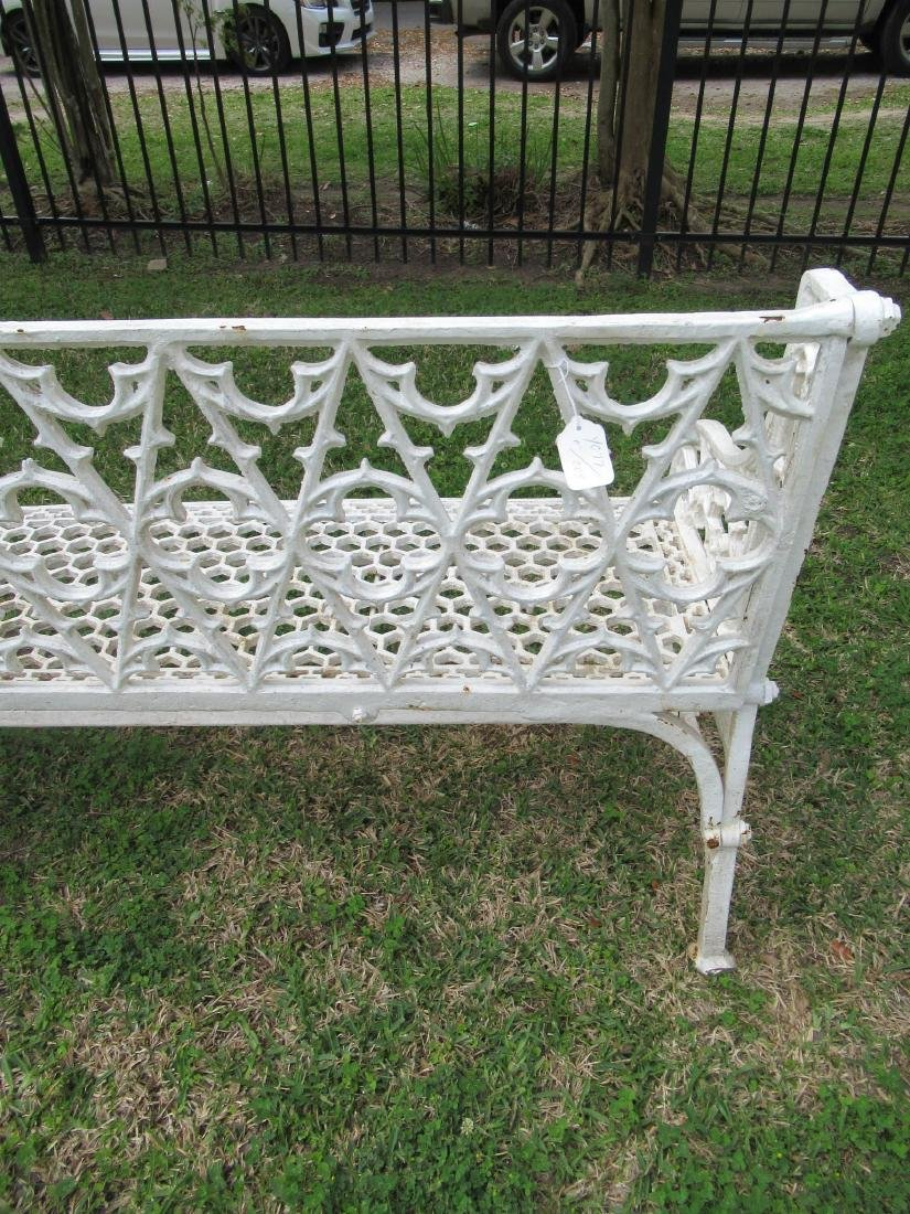Gothic Cast Iron Garden Benches - 5