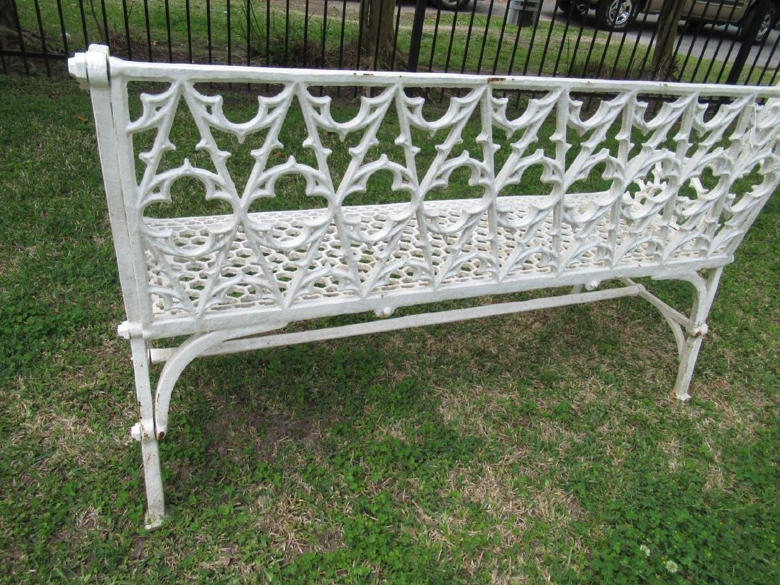 Gothic Cast Iron Garden Benches - 6
