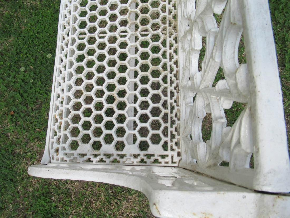 Gothic Cast Iron Garden Benches - 7