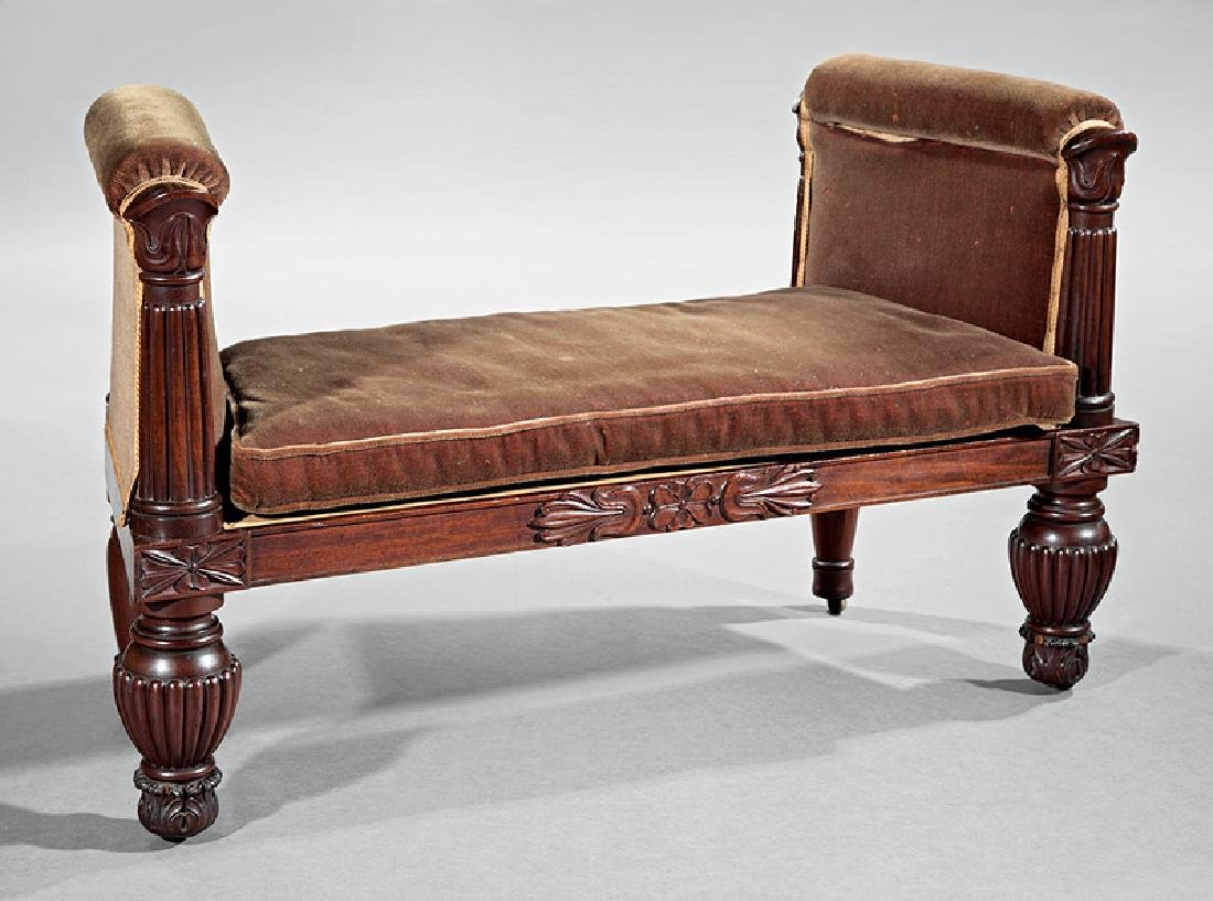 American Classical Mahogany Window Bench - 2