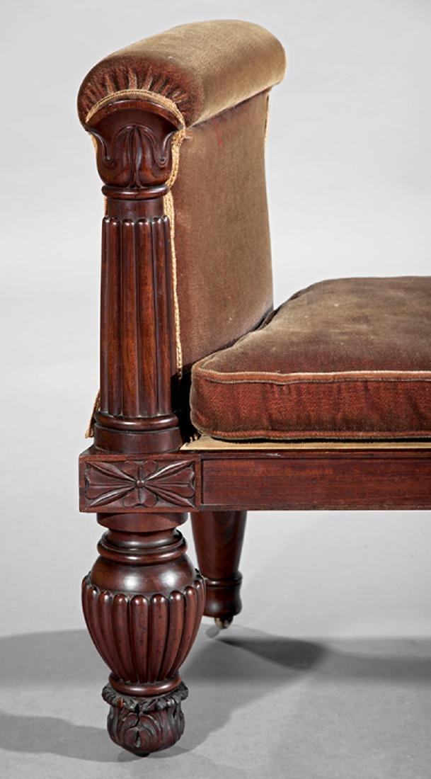 American Classical Mahogany Window Bench - 3