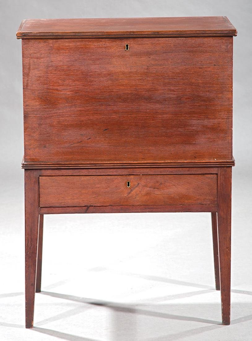 American Late Federal Walnut Sugar Chest on Stand - 2
