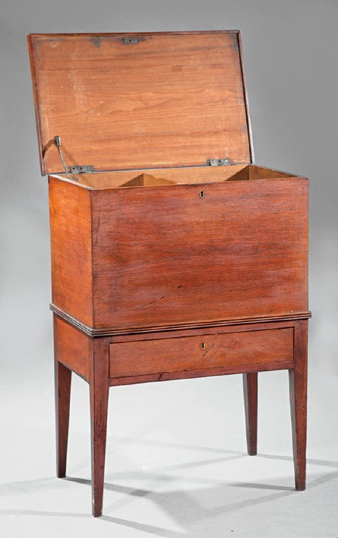 American Late Federal Walnut Sugar Chest on Stand - 3