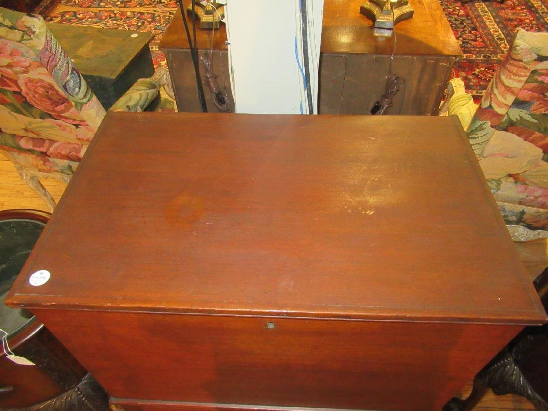 American Late Federal Walnut Sugar Chest on Stand - 4