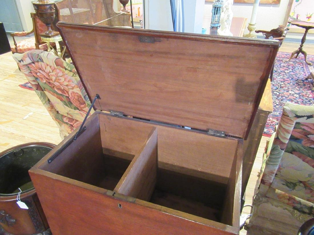 American Late Federal Walnut Sugar Chest on Stand - 5