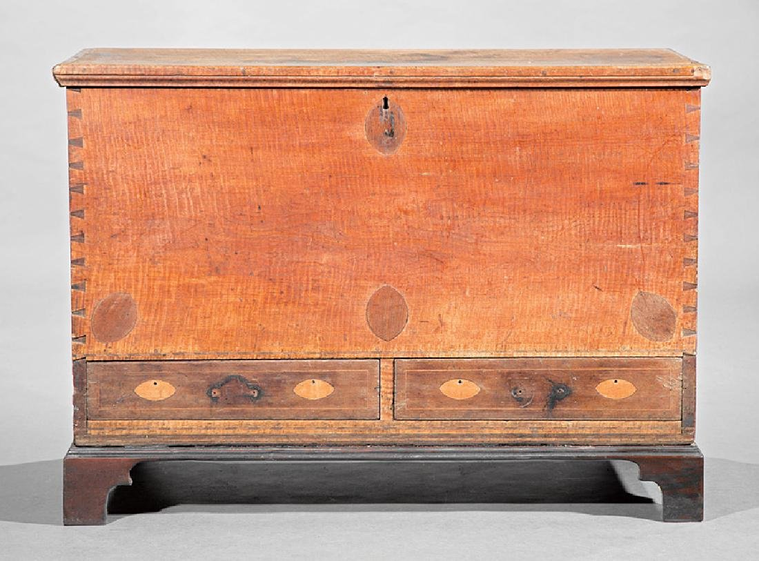 American Federal Inlaid Tiger Maple Blanket Chest - 2