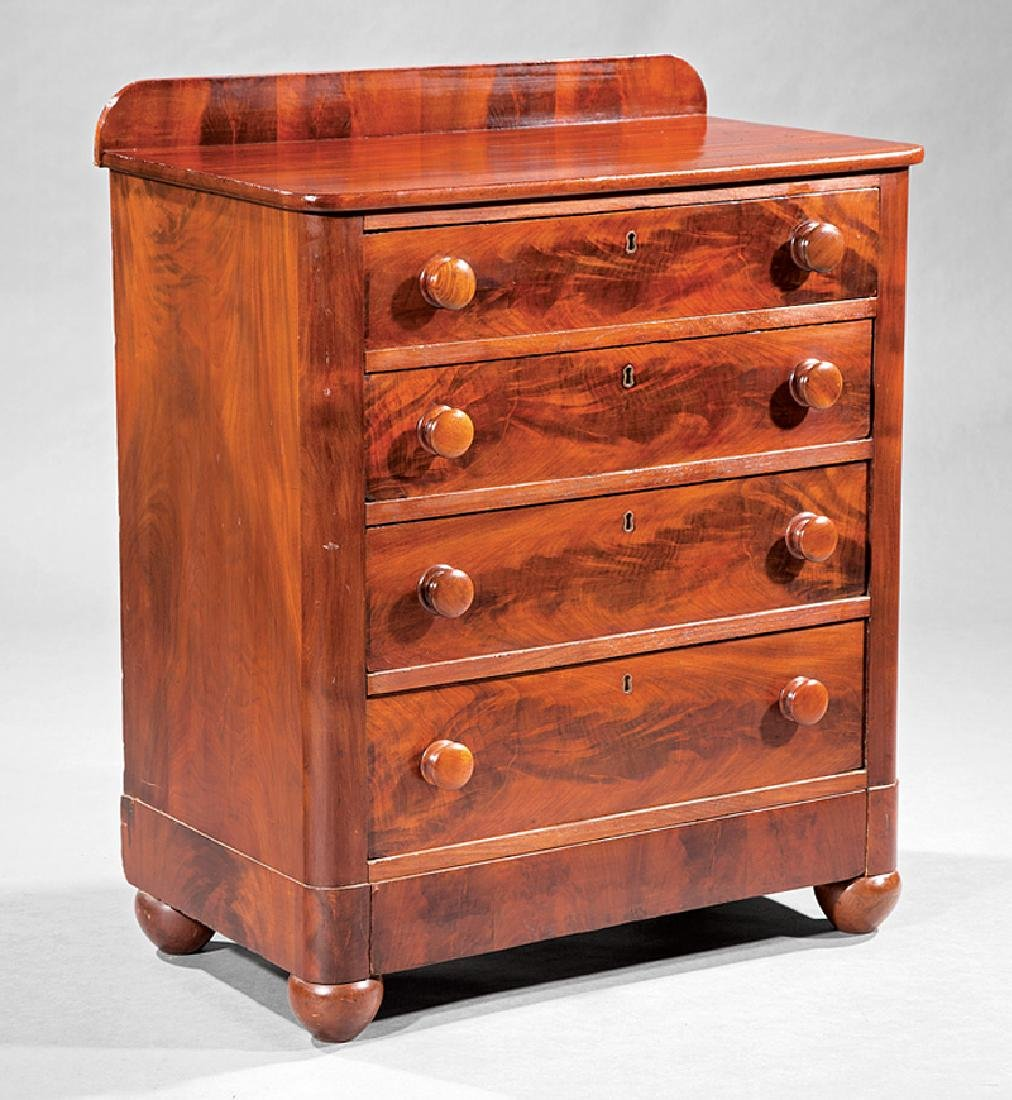 Classical Carved Mahogany Bachelor's Chest